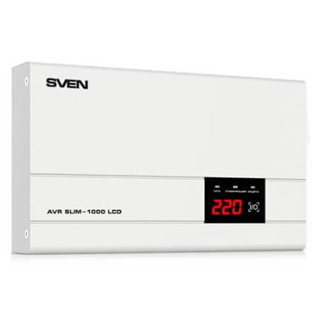 Стабилизатор напряжения SVEN AVR SLIM-1000 LCD