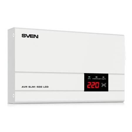 Стабилизатор напряжения SVEN AVR SLIM-500 LCD