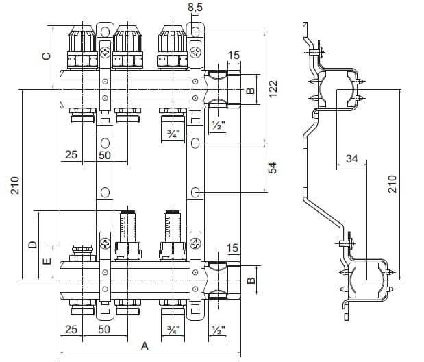 Конструкция коллектора Profactor PF MB 802.2-12